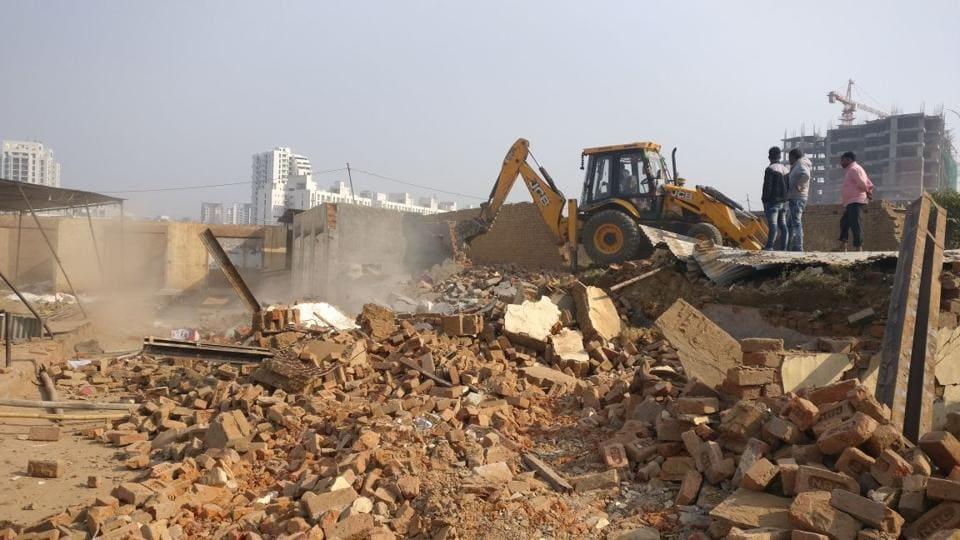 encroachments,Gurgaon,demolition