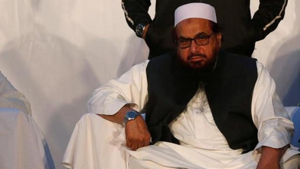 File photo of Hafiz Saeed, founder of the Lashkar-e-Taiba, at a rally against India in Karachi, Pakistan, on December 18, 2016.