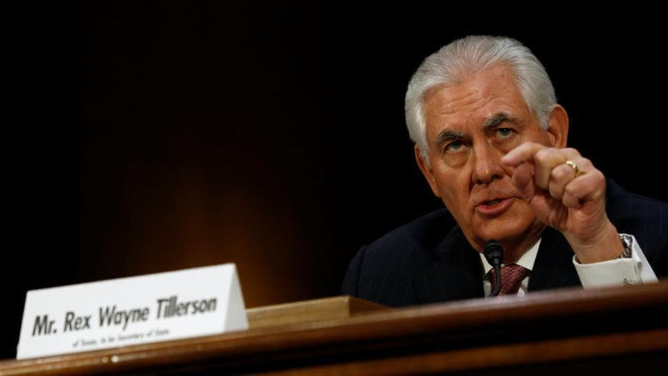 Rex Tillerson, the former chairman and chief executive officer of Exxon Mobil, testifies before a Senate Foreign Relations Committee confirmation hearing on his nomination to be US secretary of state in Washington.