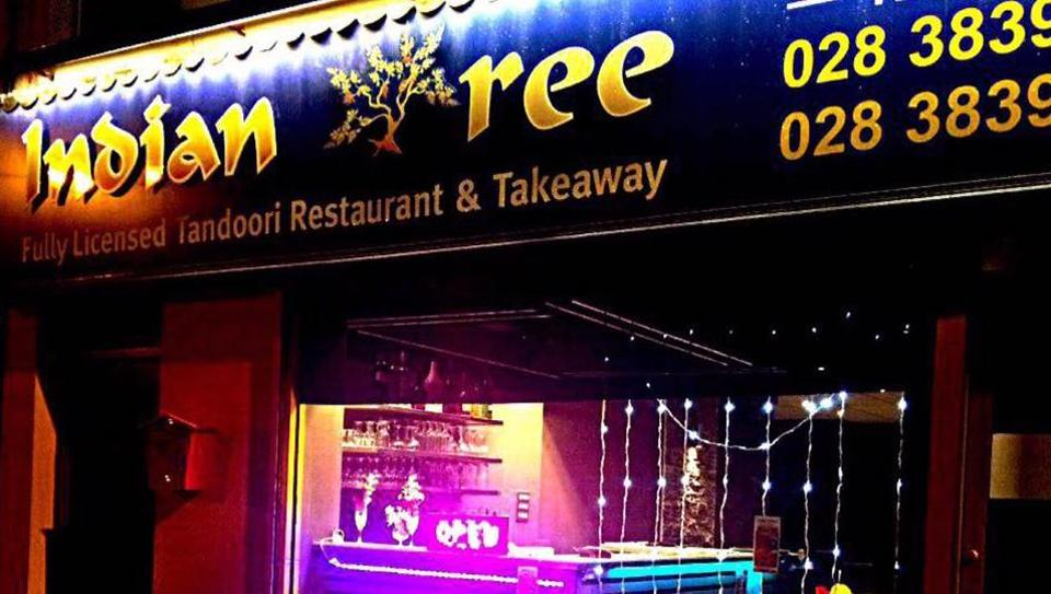 Photo of Indian Tree restaurant at Portadown in Northern Ireland.