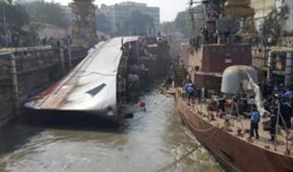 The frontline Brahmaputra-class frigate of the Indian Navy had slipped on the dock blocks while it was being undocked on December 5, 2016.