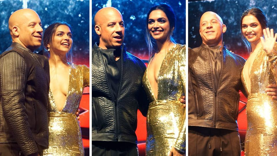 The golden couple! How comfortable Vin Diesel and Deepika look in each other's company. He called Deepika a 'beautiful soul'. (Prodip Guha/HT PHOTO)