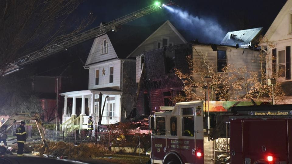 Baltimore house fire,Baltimore,Fire accidents