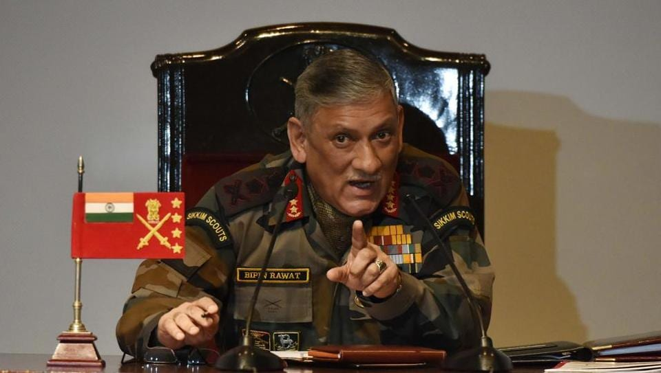 Army chief General Bipin Rawat during the annual press conference at Manekshaw Centre in New Delhi on Friday.