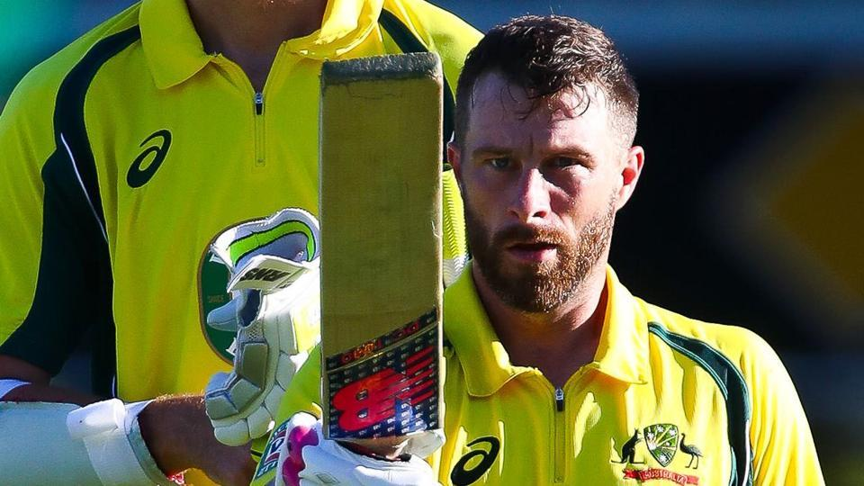 Australia national cricket team batsman Matthew Wade celebrates after scoring a century against Pakistan cricket team in the 1st ODI in Brisbane on Friday. Australia posted 268/9 in 50 overs. Get score of Australia vs Pakistan first ODI from Brisbane, here.