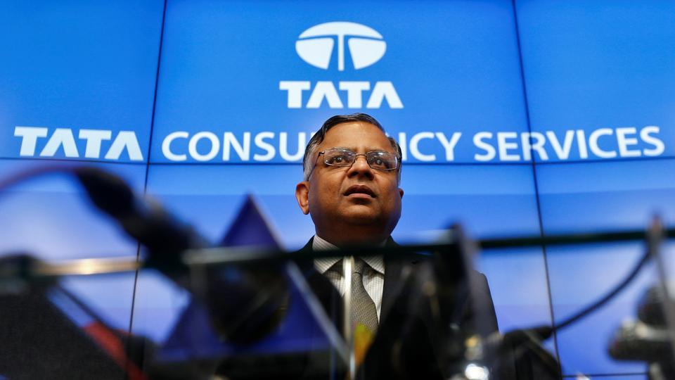 Tata Sons chairman-designate Natarajan Chandrasekaran speaks during a news conference in Mumbai.