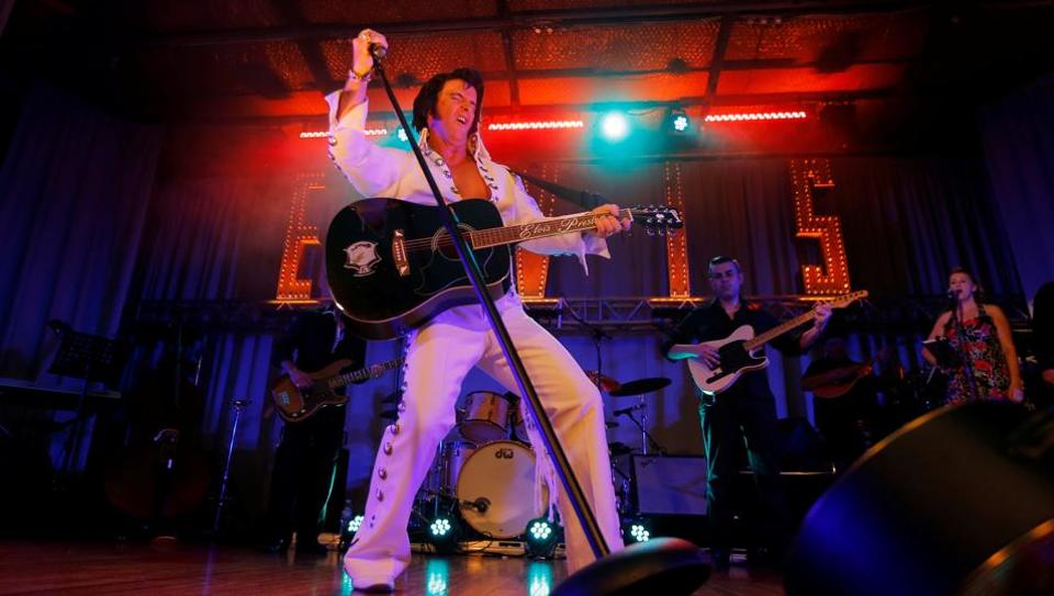 The annual Parkes Elvis festival, which in 2016 attracted more than 20,000 people, features five days of tribute concerts, memorabilia exhibits and even a Priscilla Presley look-a-like competition.  (REUTERS)