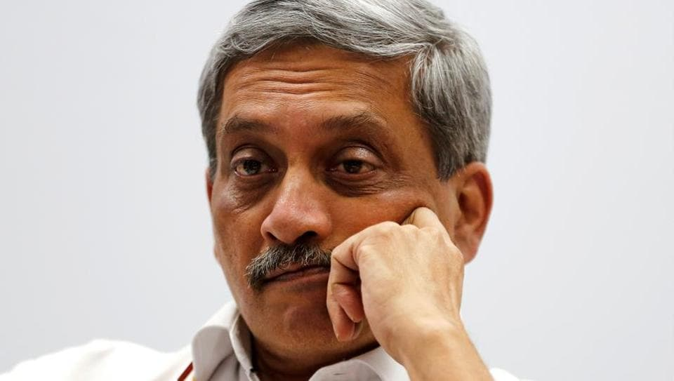 India's Defence Minister Manohar Parrikar attends a seminar during the Vibrant Gujarat investor summit in Gandhinagar, India, January 12, 2017. REUTERS/Amit Dave