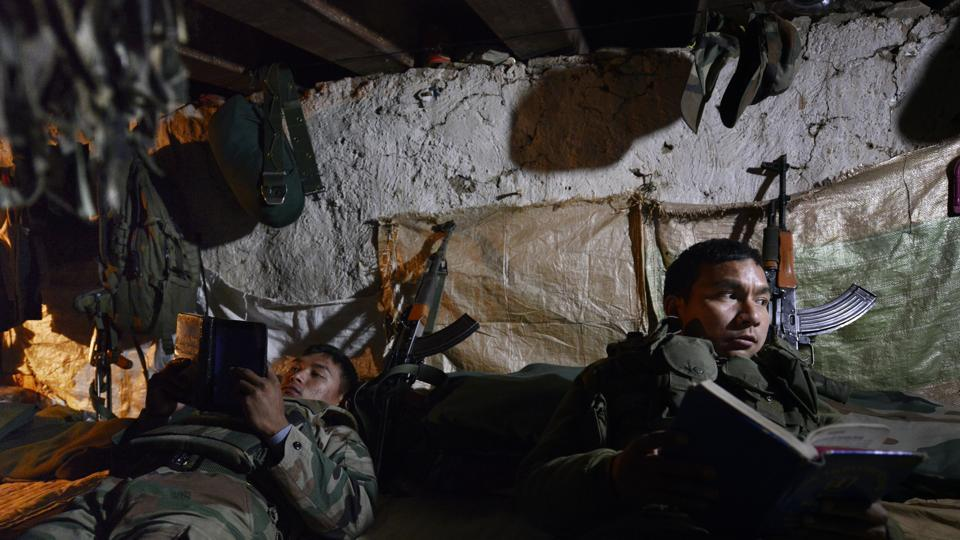 Indian Army soldiers in the 'Ghatak Bunker' in a forward post at the India-Pakistan LOC near Poonch. Over the last few years there have been multiple flashpoints of conflict between our security personnel and our civilian bureaucracy.