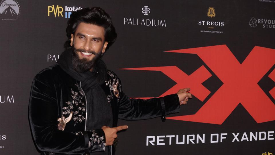 Ranveer Singh was there too to show support for his rumoured girlfriend Deepika. (Prodip Guha/HT PHOTO)