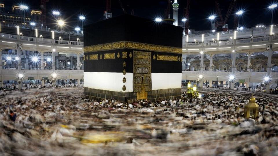 Muslim pilgrims circle counterclockwise Islam's holiest shrine, the Kaaba, at the Grand Mosque in the Saudi holy city of Mecca, in this file photo from September 21, 2015.