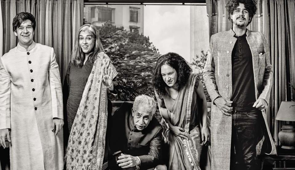 (From left) Vivaan, Ratna, Naseer, Heeba and Imaad bond over theatre