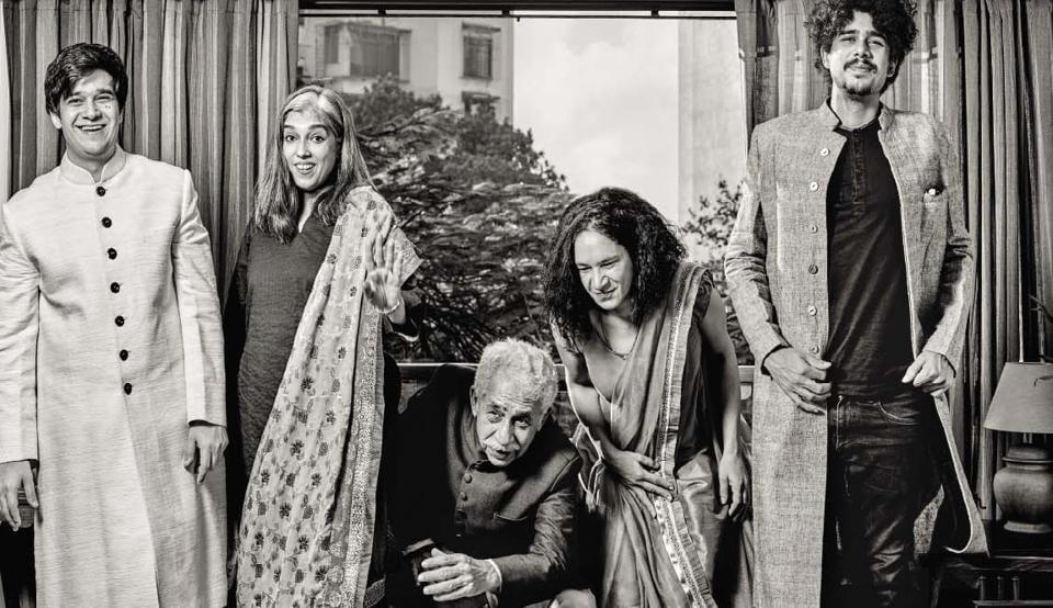 (From left) Vivaan, Ratna, Naseer, Heeba and Imaad bond over theatre