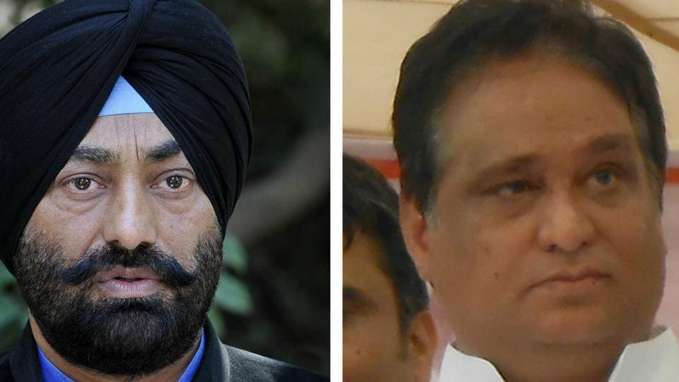 Sukhpal Singh Khaira and (left) Shiv Lal Doda
