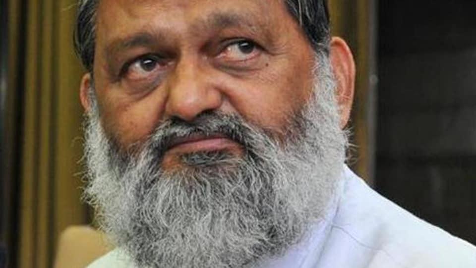 Haryana minister Anil Vij.