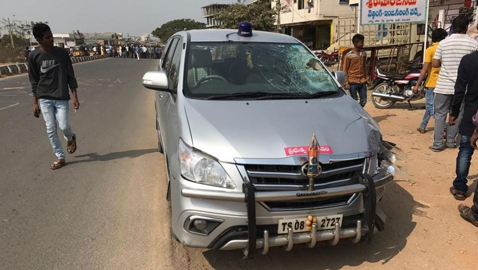 The police said the minister was not in the car when the accident occurred.