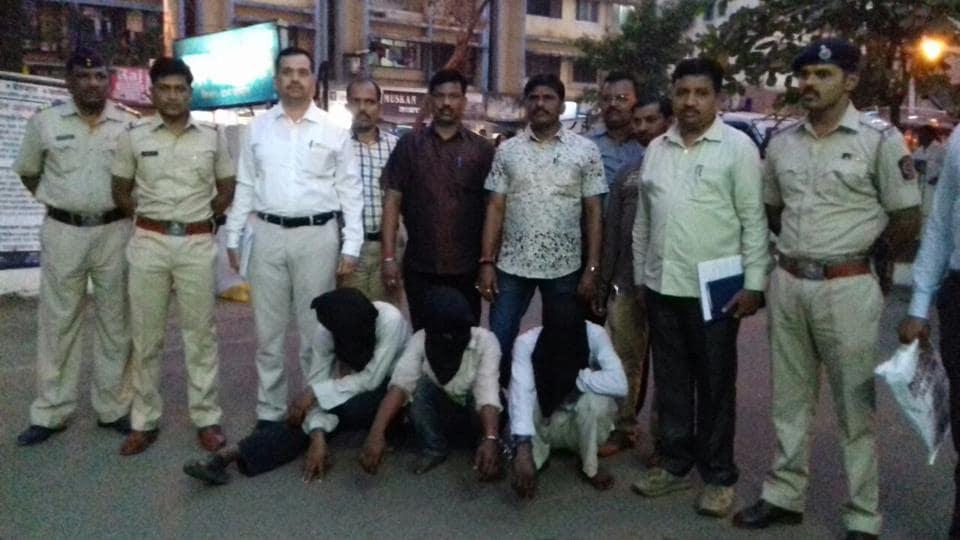 CCTV camera footage helped the Navghar police nab the three scrap loaders, said an inspector.