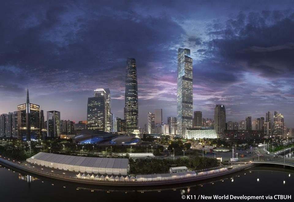 The tallest building to be completed last year was in China – the Guangzhou CTF Finance Centre — which stands at 530 metres.