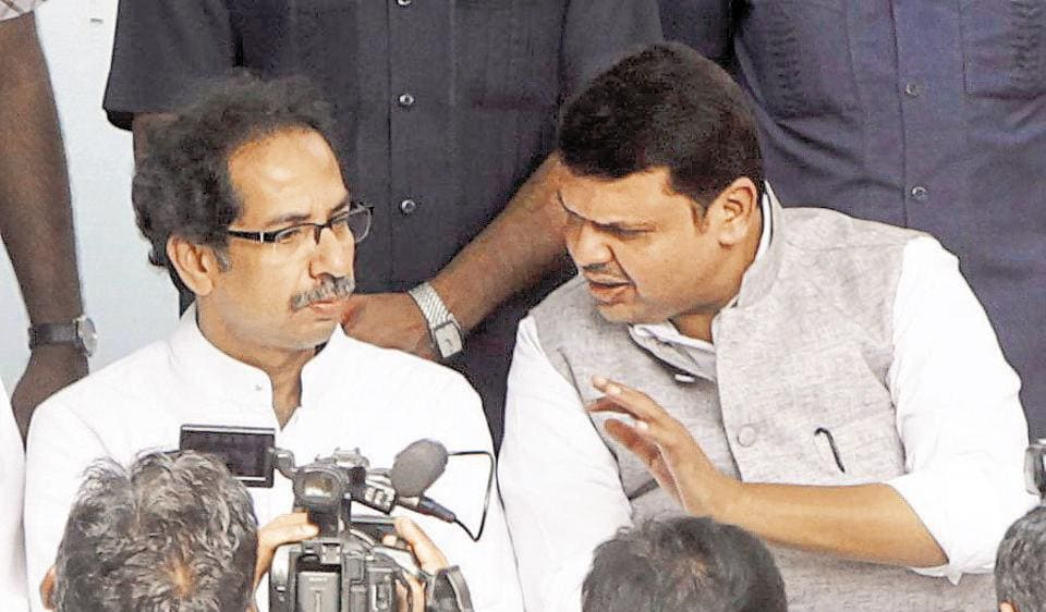 The two parties have always contested in an alliance since 1997, with the Shiv Sena taking a lion's share of the 227 seats in Mumbai.