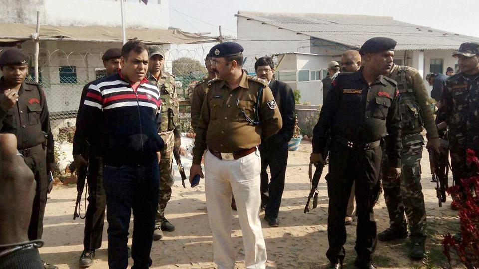 The site where a CISF constable opened fire and killed four of his colleagues in Aurangabad district of Bihar on Thursday.