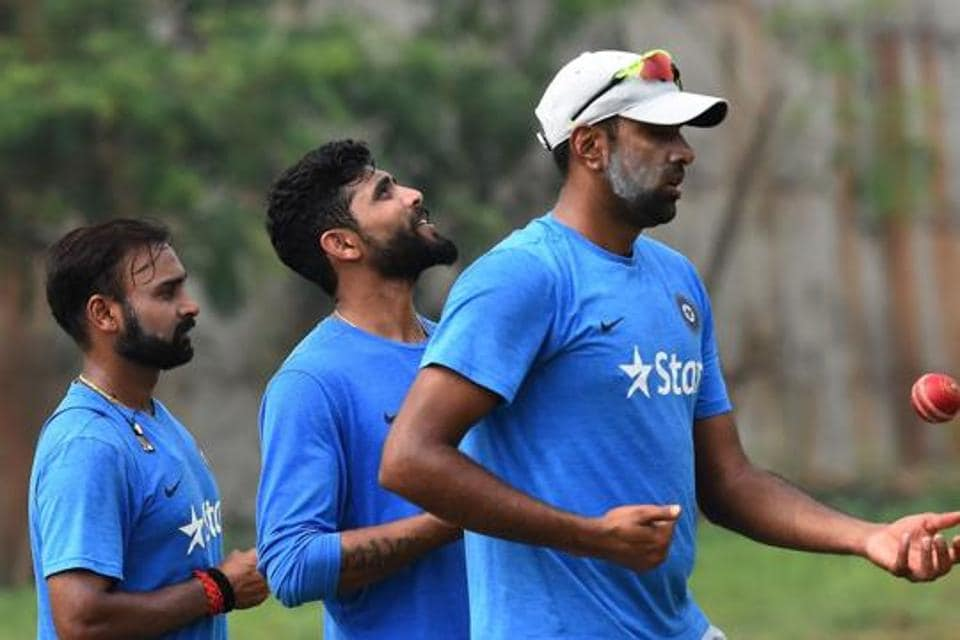 Ravichandran Ashwin (right) and  Ravindra Jadeja (centre) will be not be part of India vs England T20I series, while Amit Mishra will play.