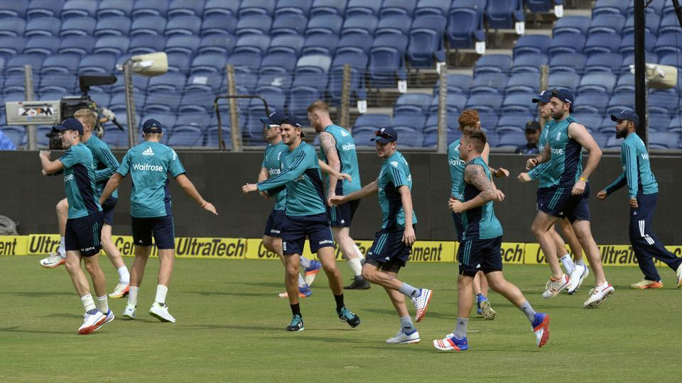 Alex Hales and the other England players have a good workout. (AFP)