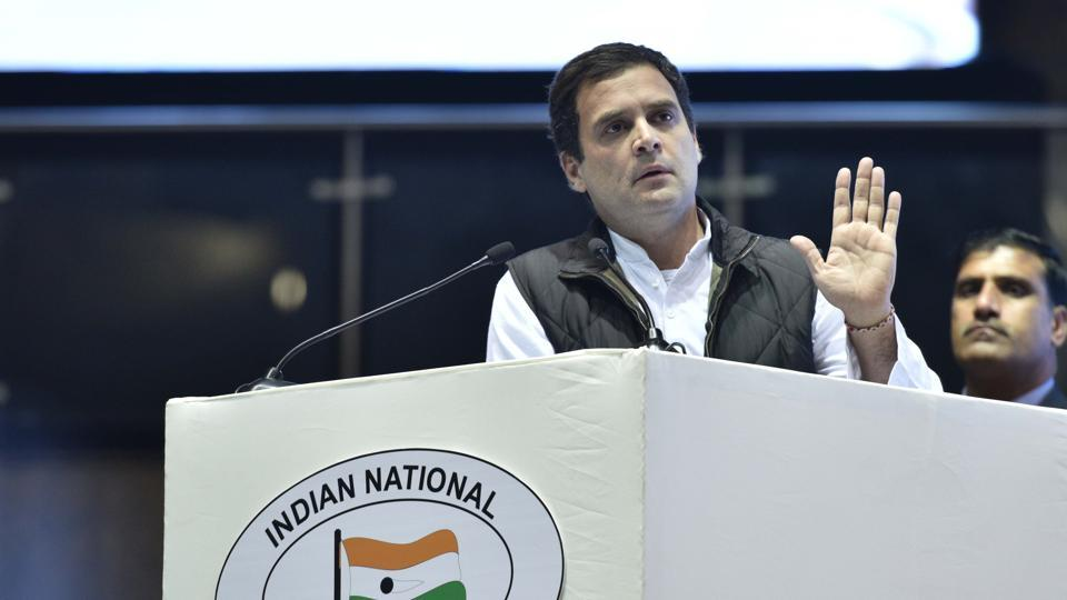 Rahuls Hand Remark Bjp Wants Congress Poll Symbol Cancelled