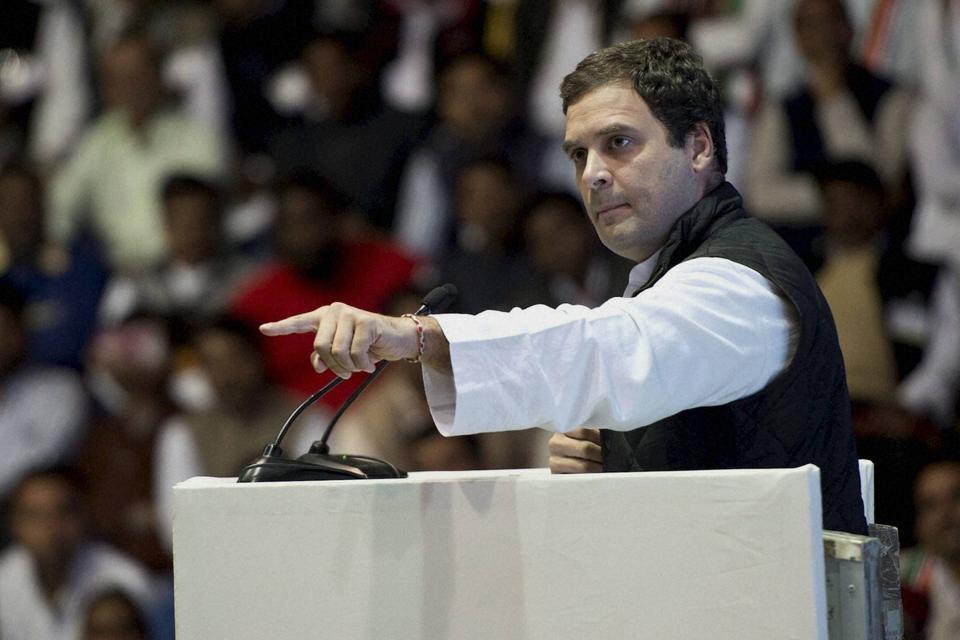 Congress vice-president Rahul Gandhi hit out at Haryana minister Anil Vij who said PMModi is a bigger brand than Mahatma Gandhi.