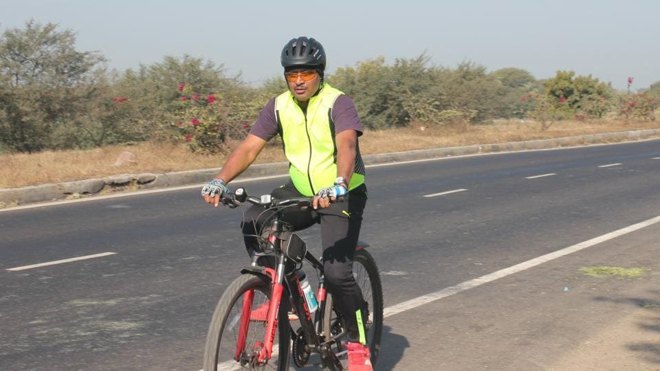 Additional divisional railway manager RK Gupta cycled 140 km to conduct surprise inspection.
