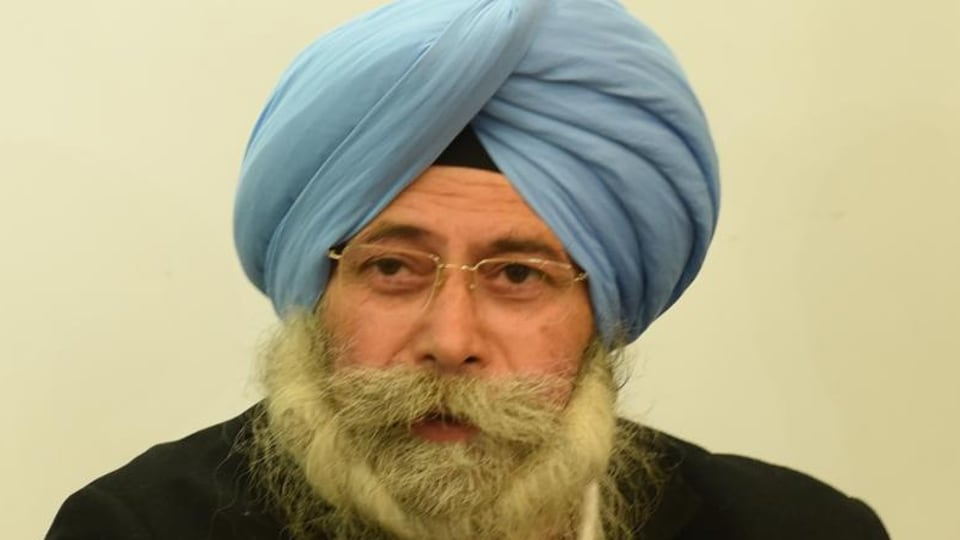 Senior Aam Aadmi Party (AAP) leader and Dakha candidate advocate HS Phoolka