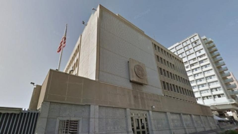 USEmbassy in Tel Aviv, Israel.