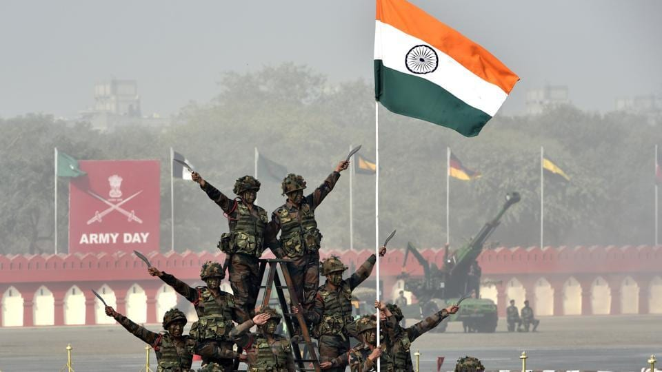 Army Day is celebrated to pay homage and salute to the courageous and brave Indian soldiers who have been sacrificed their lives for protecting the country.  (Arvind Yadav/HT PHOTO)