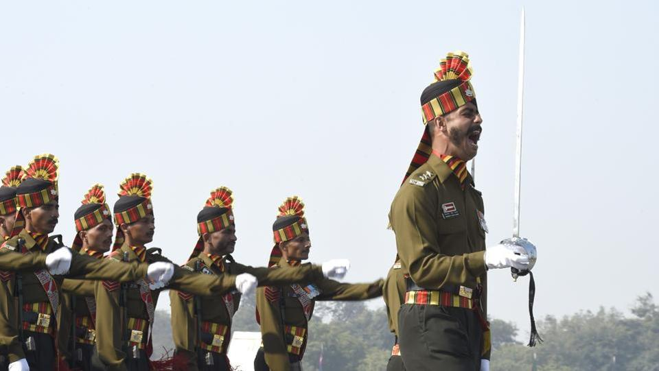 Army Day is celebrated on 15 January every year in India, in recognition of Lieutenant General KM Cariappa's taking over as the first Commander-in-Chief of the Indian Army from General Sir Francis Butcher, the last British Commander-in-Chief of India, on 15 January 1949.  (Arvind Yadav/HT PHOTO)