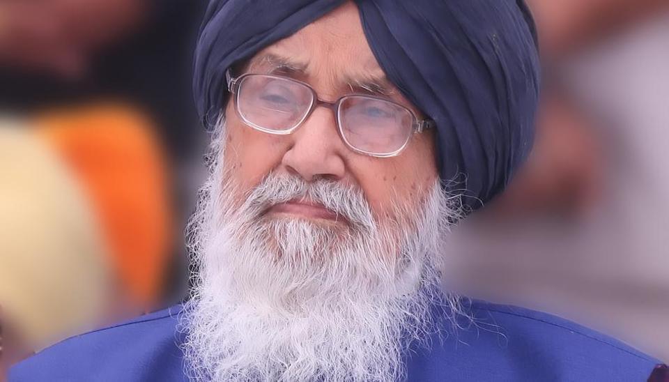 Punjab chief minister ParkashSingh Badal.