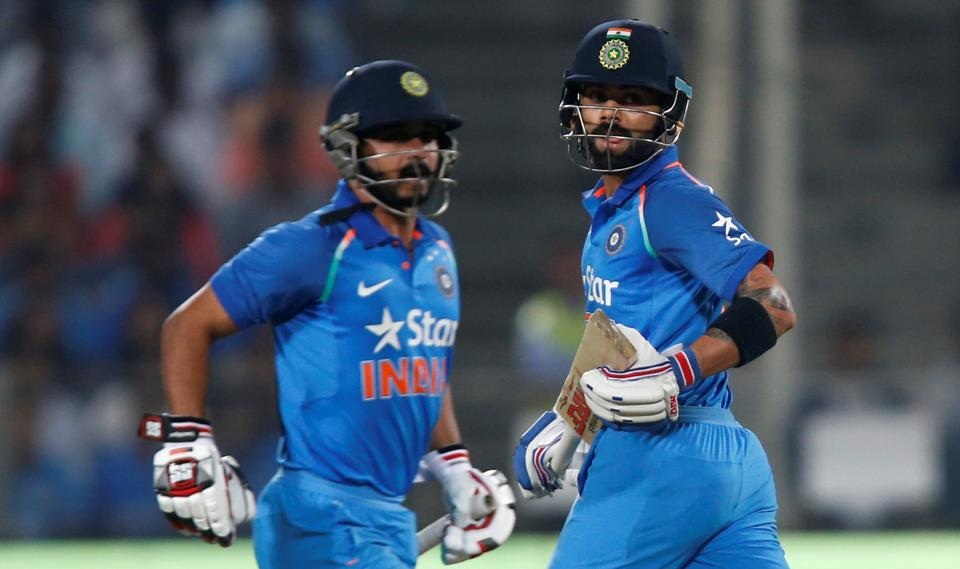 Virat Kohli and Kedar Jadhav's centuries helped India beat England by three wickets to go 1-0 up.