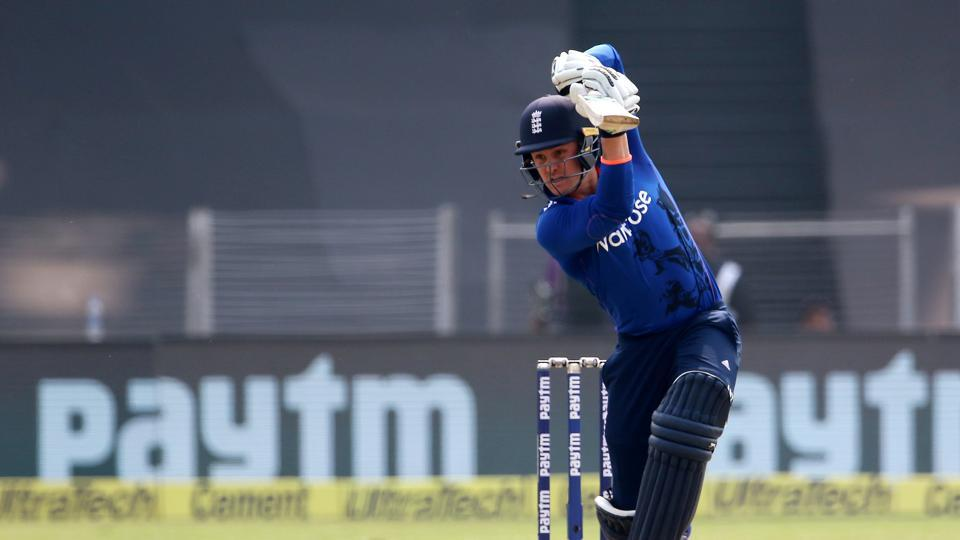 Jason Roy continued to hold firm and he played aggressively against the Indian bowlers. (BCCI)