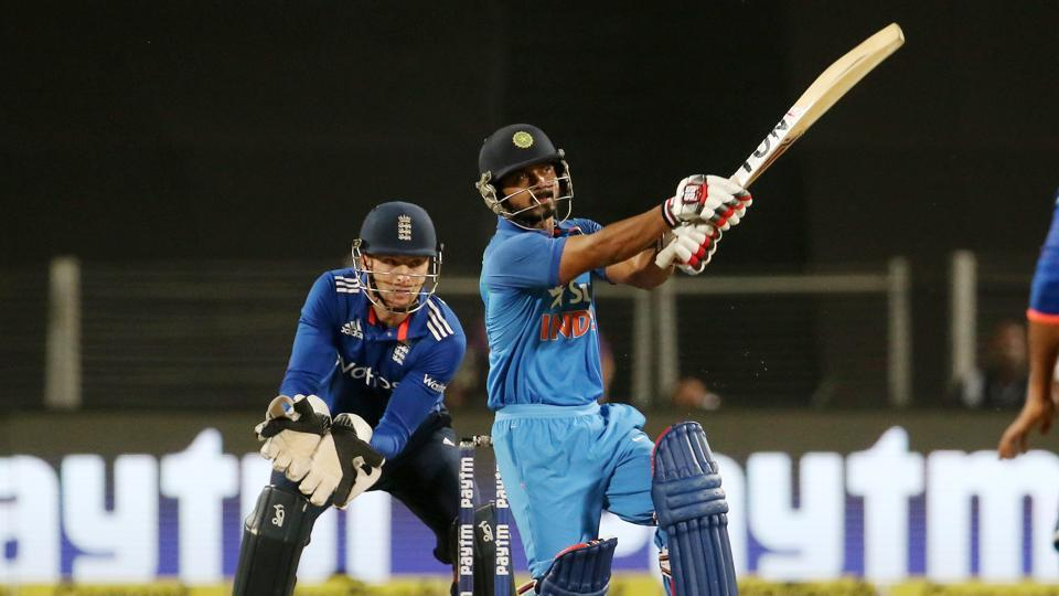 Kedar Jadhav and Virat Kohli steadied the ship with a solid stand. (BCCI)