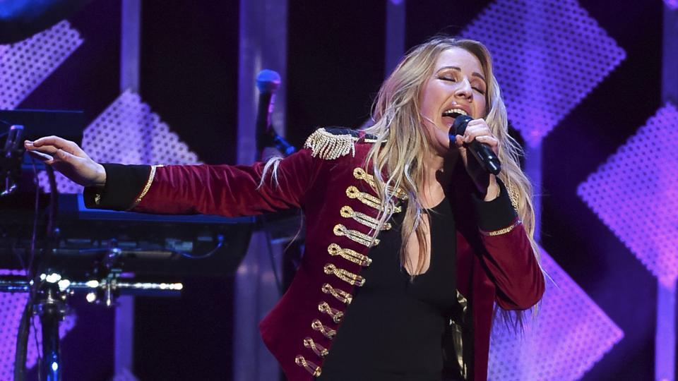 Singer Ellie Goulding performs at Z100's iHeartRadio Jingle Ball in December 2016, in New York.