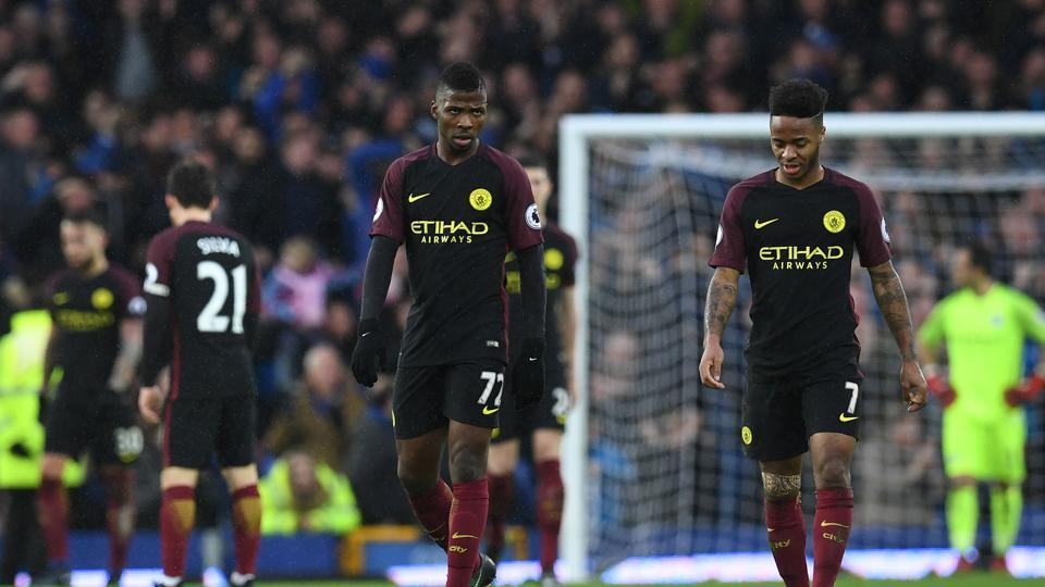 Manchester City F.C.'s title hopes were dashed after they lost 4-0 to Everton in the Premier League, increasing the pressure on Pep Guardiola.
