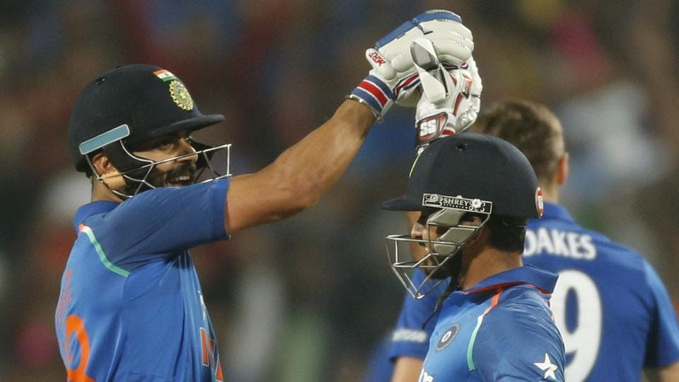 Virat Kohli's 27th ODI century and Kedar Jadhav's second ton helped India achieve a three-wicket win and go 1-0 up against England in Pune. (AP)