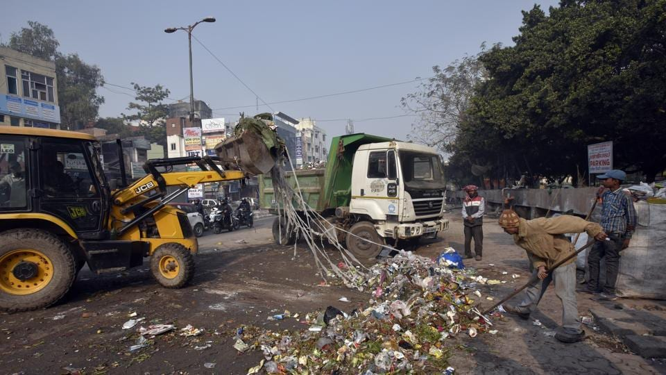 Officials said the sanitation conditions in east Delhi started getting normal on Saturday after a majority of workers resumed work.