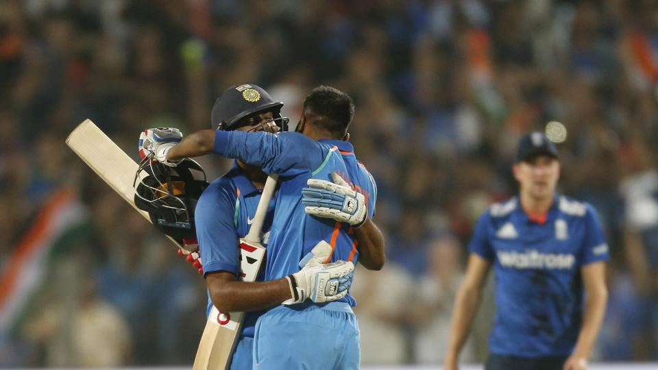 Pandya and Ashwin sealed a tense three-wicket win for India as they chased down 350 for the third time in ODIs. (AP)