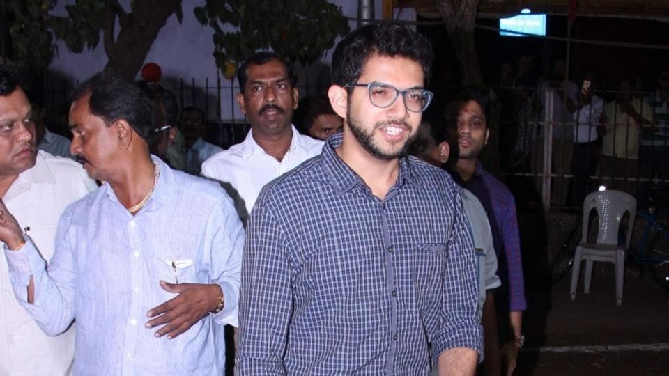 Yuva Sena president Aaditya Thackeray escaped an accident unhurt in Mumbai on Sunday.
