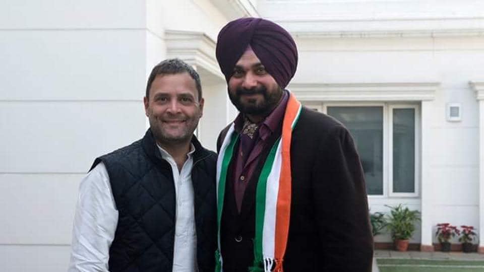 Navjot Singh Sidhu joined the Congress party on Sunday.