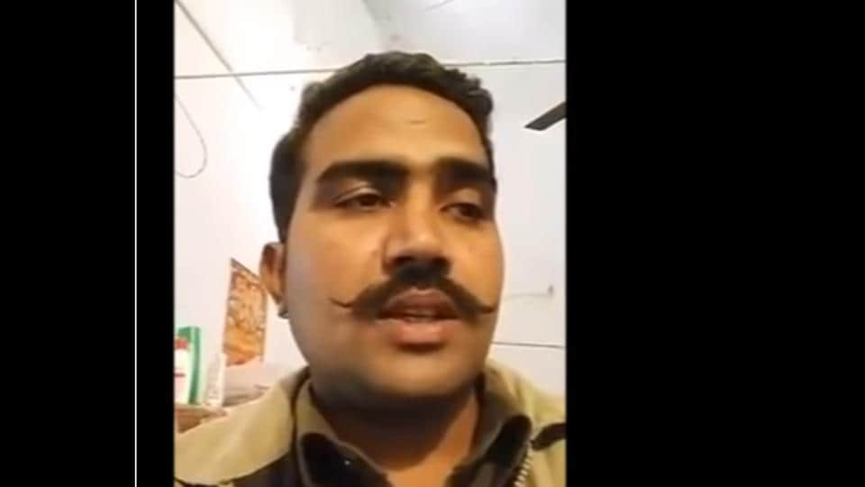 Constable Sarvesh Chaudhary  posted a video on Facebook addressed to the Prime Minister, complaining of harassment by senior police officers and corruption in the force.