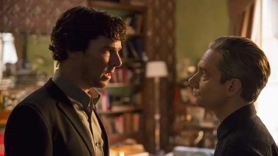 In this episode, we were given hints that there was indeed no one with Sherlock when he seemed to be talking to Faith, or Euros as we later found out.