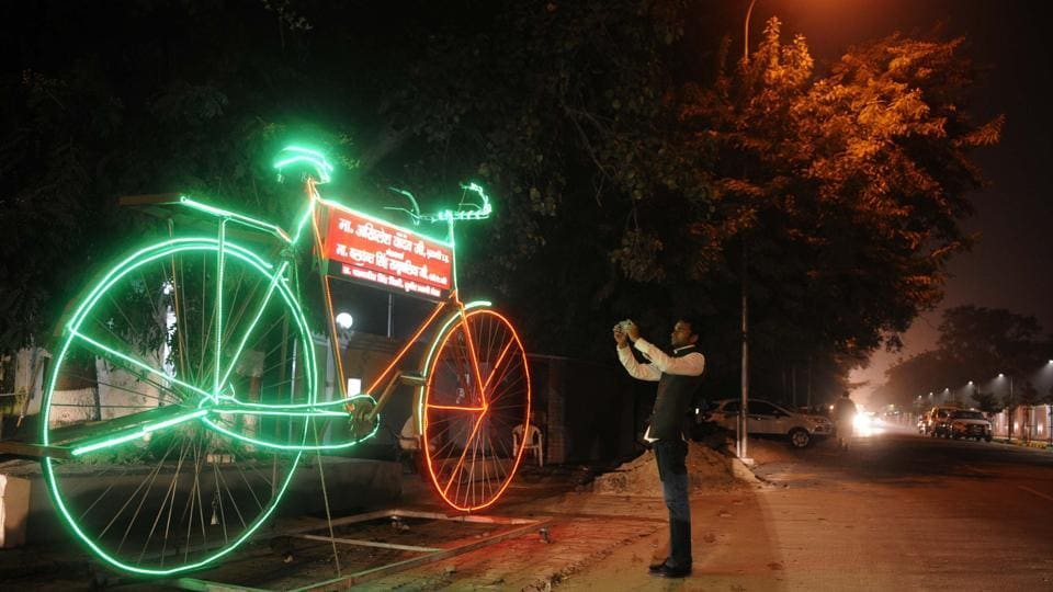 The Election Commission of India on Monday alloted the Samajwadi Party's 'bicycle' poll symbol to the faction led by Uttar Pradesh chief minister Akhilesh Yadav.