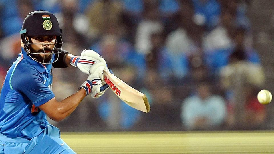 India cricket team captain Virat Kohli hit eight fours and five sixes in his 105-ball 122 to help hosts beat England cricket team in the 1st ODIin Pune on Sunday.