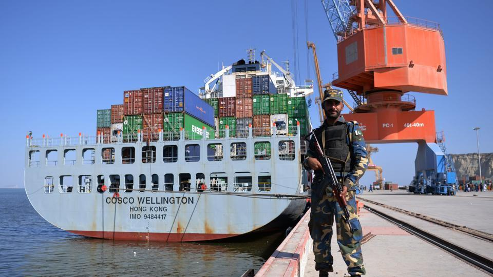 China on Sunday handed over the two ships to the Pakistan Navy for joint security along the sea route of the China-Pakistan Economic Corridor (CPEC).
