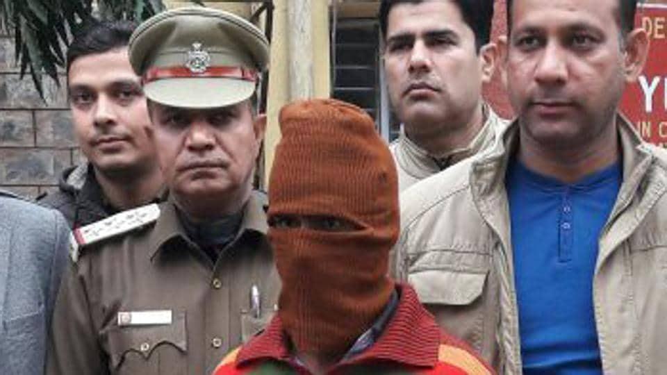 Sunil Rastogi in police custody.